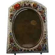 Large Victorian Venetian Mosaic Easel-Back Frame 1890