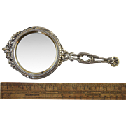 Antique French Sterling Silver Gilt Desk Magnifying Glass Risler & Carre c1890-1900 Neo-Classi