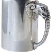 "Rare 1882 Gorham ""Jumbo"" the Elephant Sterling Christening Cup/Mug**Antique Figural*"