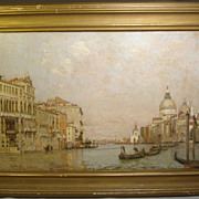 William Graham (American 1832-1911) Original Oil on Canvas Venetian Scene 1895.. Listed Americ