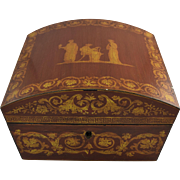 SALE Vintage Neo Classical Domed Jewelry Box Wilton & Lee Designer Reproduction