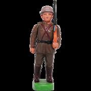 Vintage Celluloid Soldier with Rifle - Japan Kintaro/Marugane