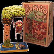 Unique Art Bombo the Monk Vintage Windup Tin Toy