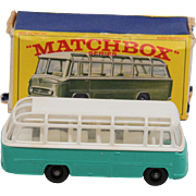 Matchbox 68B Mercedes Coach Turquoise Version. Mint condition except for a very small amount o