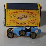 Lesney Matchbox Yesteryear Y6-2 1926 Type 35 Bugatti