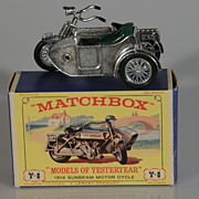 Lesney Matchbox Yesteryear Y-8 Sunbeam Motorcycle and Sidecar MIB