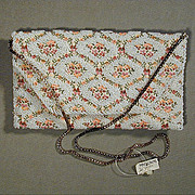 SALE PENDING Vintage Handmade Beaded Embroidered REGALE Handbag Purse