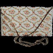 Vintage Handmade Beaded Embroidered REGALE Handbag Purse