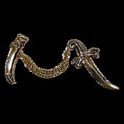Vintage Coro Pegasus 2-Piece Sword & Sheath Pin Brooch