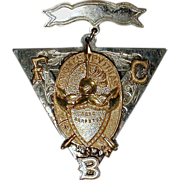 SOLD Antique 1874 Knights of Pythias FCB Fraternal Order Medallion Pin Badge