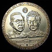 1971 Sterling Silver Medallion Japan - Britain Commemorative 2+ Oz.