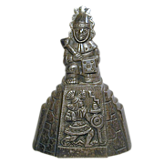 Mid-Century Heavy Solid Sterling Silver Peruvian Bell 8 Oz.
