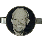 Original 1953 I LIKE IKE Flicker Tie Clasp - Dwight Eisenhower