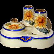 Vintage NORITAKE Hand-Painted Condiment Salt Pepper Set Sunflowers
