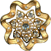 Vintage Sarah Cov Two Pins in One - A Clever Jeweled Brooch