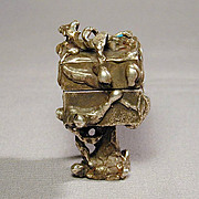 Brutalist Solid Sterling Silver Abstract Weird Box