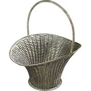 SOLD Taxco Mexican Large Sterling Silver Woven Basket VILLASANA c1960 - Red Tag Sale Item
