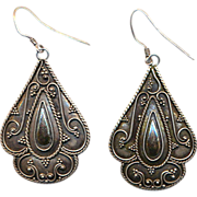 Sterling Silver Dangle Earrings - A Bit of Vintage Exotica