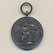 Old 1920s Sterling Silver MANUAL TRAINING Medal N.J. School