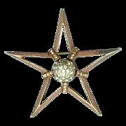 Vintage Nettie Rosenstein Sterling Rhinestone STAR Pin Brooch
