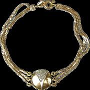 Vintage 14K Gold & Diamond Lady Bug Bracelet