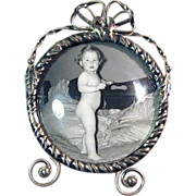 Victorian Sterling Silver Miniature Picture Frame