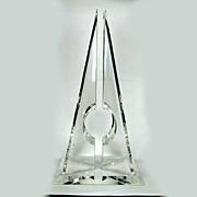 Modernist Pyramid Lucite Hivo Van Teal Sculpture - 1970s