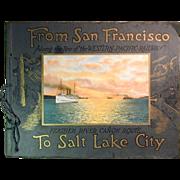 SOLD c1920 Western Pacific Railroad Photo Book San Francisco to Salt Lake City