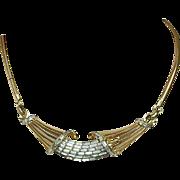 Coro Corocraft Adolph Katz Design Rhinestone Necklace
