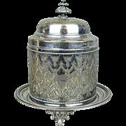 Antique c1880 John Sherwood & Sons Tobacco Jar Box