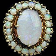 Vintage 14K Gold OPALS Opal Large Cocktail Ring Estate