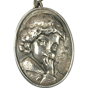 Henryk Winograd Pure Sterling Silver Cameo Pendant Repousse
