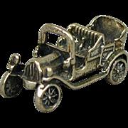 Vintage PEUGEOT Sterling Silver Old Car Charm Pendant