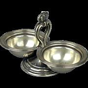 Antique Austrian Silver Double Serving Dish Salt Victorian Heinrich Anders