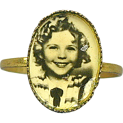SOLD Rare Old Original 1930's SHIRLEY TEMPLE Photo Ring