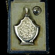 Victorian Sterling Silver Perfume Bottle w/ Funnel in Original Box