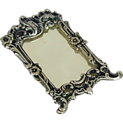 European 835 Silver Miniature Doll House Mirror Hendrik Hooykaas