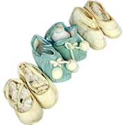 Vintage Baby Shoes Booties - Big Doll c1940s