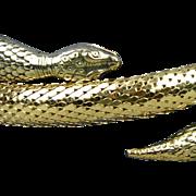 Vintage Whiting Davis Mesh Snake Arm Bracelet - Exotic Wraparound