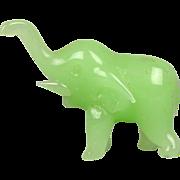 SALE PENDING Vintage Green Jade Miniature Elephant Figurine