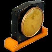 SOLD Art Deco Bakelite 2-Color Desk TAYLOR Thermometer Barometer