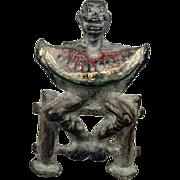 Old Black Americana Watermelon Eating Man Figurine