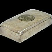 Poole Silver 1899 Silver-Plated Coach Award Box w/ Bulldog Yonkers H.S.