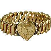 Victorian 1900s CARMEN Sweetheart Expansion Bracelet Hearts