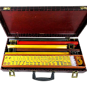 Old Bakelite Mah Jong Game Set Complete in Case - Free U.S. Shipping