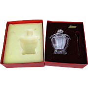 French Baccarat Crystal Sugar Jam Bowl w/ Spoon Unused in Box