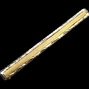 Early Art Deco Era 10K Gold Bar Pin Collar Brooch