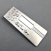 Vintage Sterling Silver Mens MARVEL Money Clip