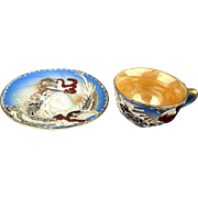 Wee Miniature Moriage Dragonware NIKONIKO China Tea Cup / Saucer