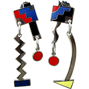 SOLD 1980s Acme Studios Memphis Design Earrings by Adrian Olabuenaga